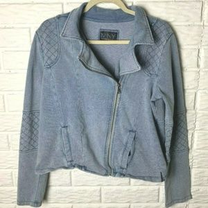 Marc New York Andrew Marc Jacket Size XL Moto Blue